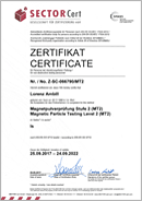 SECTOR Cert Certificate, Magnetic Particle Testing Level 2 (MT2), Lorenz Ambill