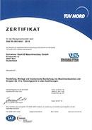 Zetifikat TÜV Nord deutsch